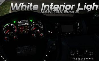 MAN TGX Euro 6 White Interior Light 1.34