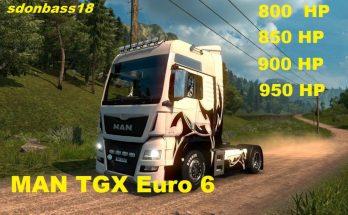 New engines for MAN TGX Euro 6 v1.0