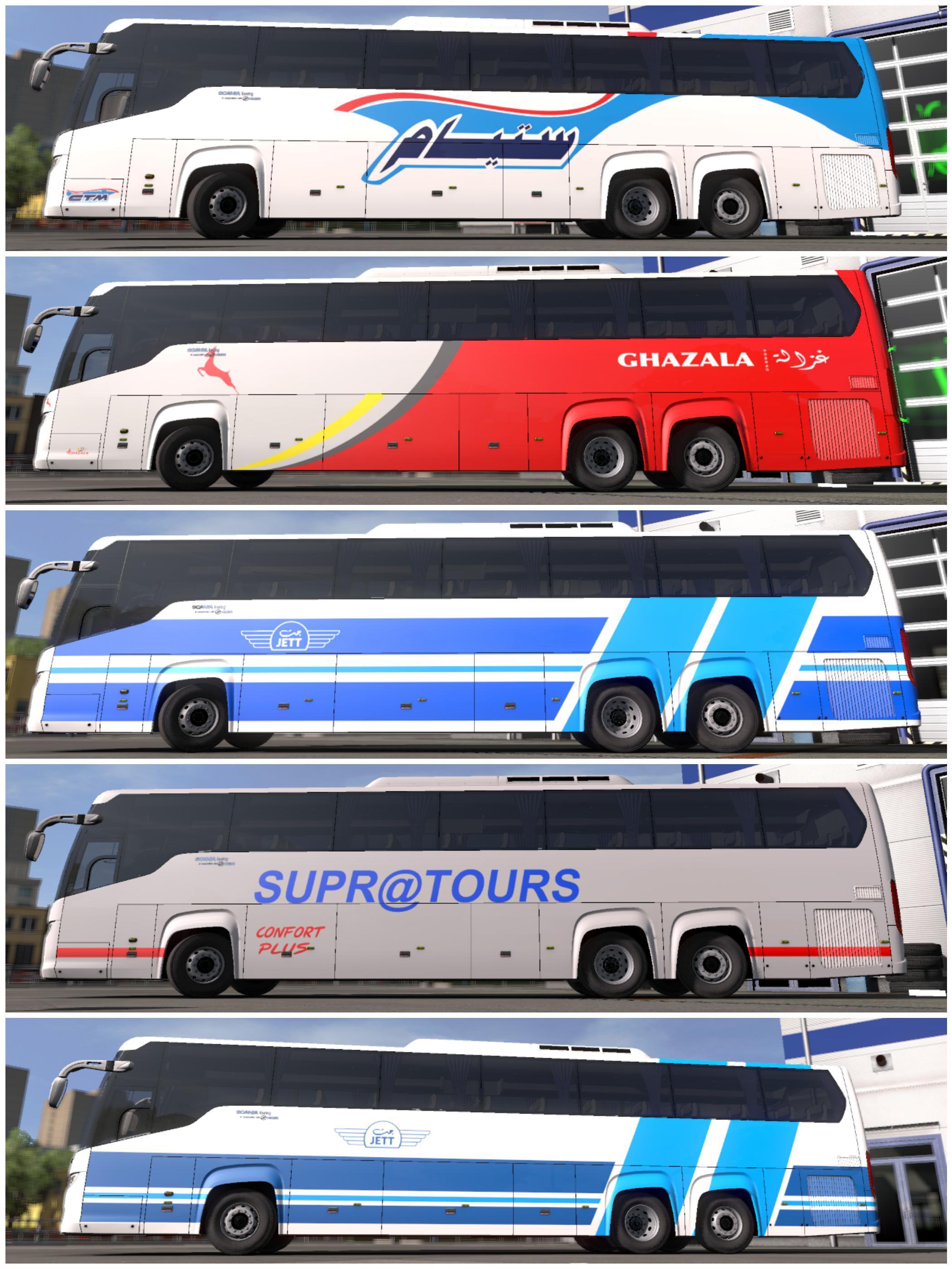 Pack MohSkinner Bus Scania Touring v0.2 - 1.33.x