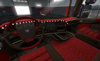 Scania R2009 and Streamline Red İnterior v1 1.34