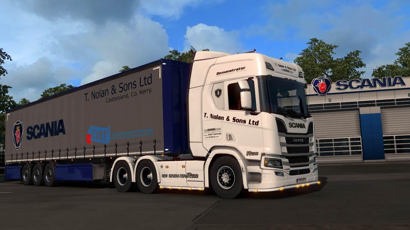 T. Nolan & Sons LTD R500 + Trailer skin 1.33.x