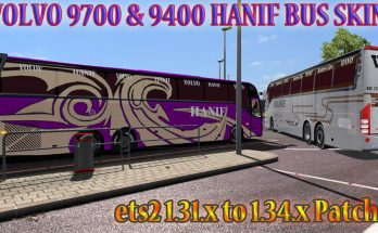Volvo 9700 and 9400 bus Hanif bus skin + 4 euro skin pack + ai traffic