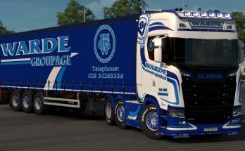 Warde Groupage Scania NG S + Trailer Skin 1.33.x