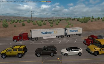Double and Triple Trailers in Traffic ATS 1.34.x