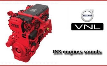 ISX Engines sounds mod for SCS Volvo VNL v1.2