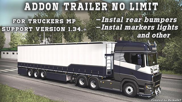 Addon trailer no limit [For Truckers MP] v1.0 1.34.x