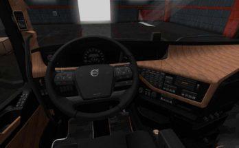 Black & Oak Wood Interior for Volvo FH 1.34.x