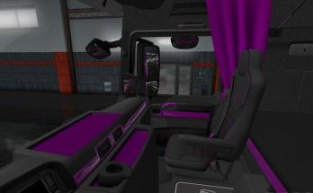 MAN Euro 6 Black - Purple Interior 1.34.x