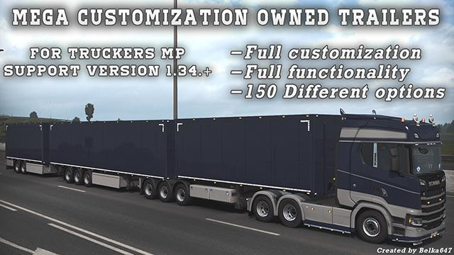 Mega customization Owned Trailers v1.0 1.34.x