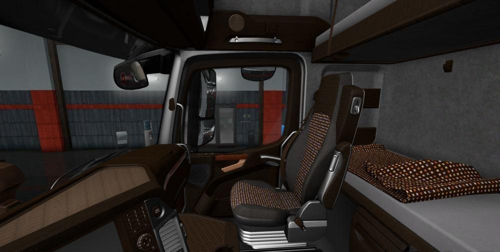Mercedes Actros MP4 LUX Wood Interior 1.34.x