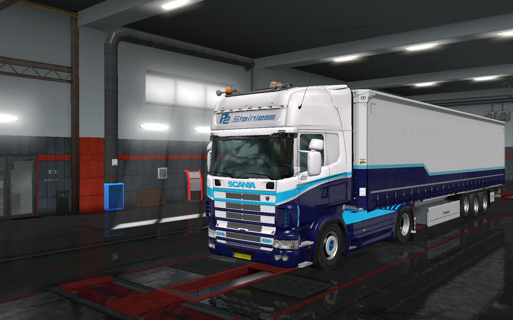P2 Stainless skin For Scania RJL & Scania R4 Series 1.34