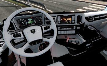 Scania 2016 Black & White Interior v1.0