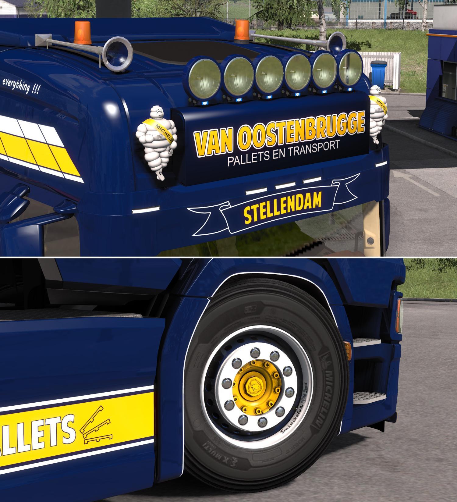 Scania S Next Generation Van Oostenbrugge Combo Skin Pack v2.0