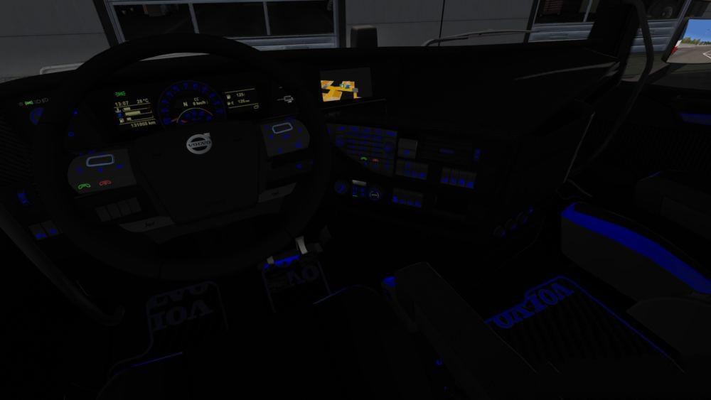 Volvo FH 2012 Black - Blue Interior With Blue Lights 1.34.x