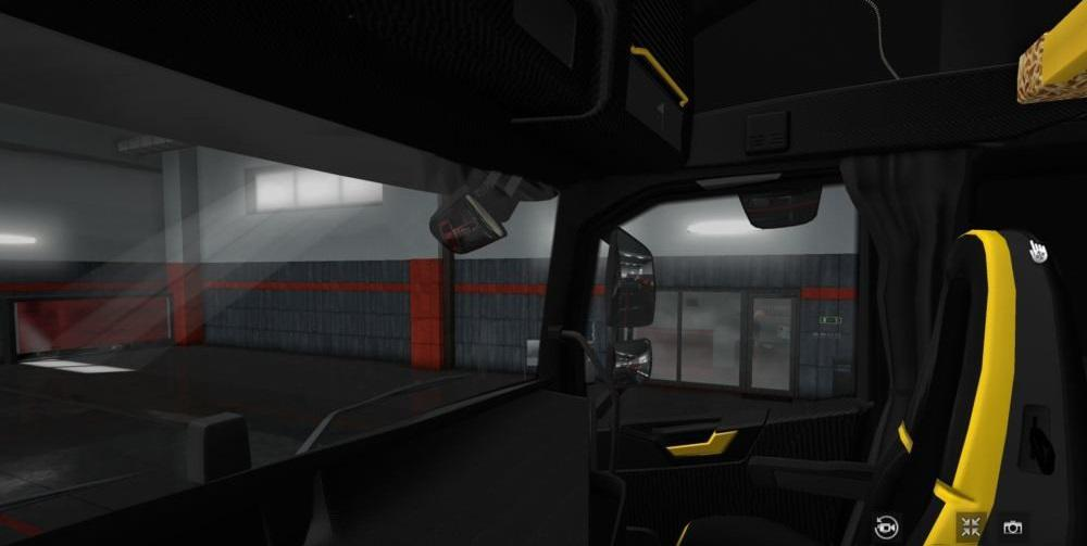 Volvo FH 2012 Black - Yellow Interior With Red Lights 1.34.x