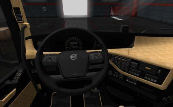 Volvo FH Black Synthetic & Mapple Wood Interior 1.34.x