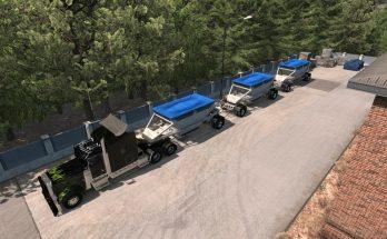Dump Bottom Triple MP-SP TruckersMP Multiplayer 1.34.x
