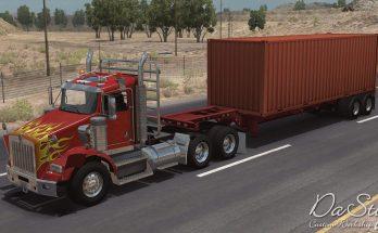 Kenworth T800 in traffic ATS 1.34