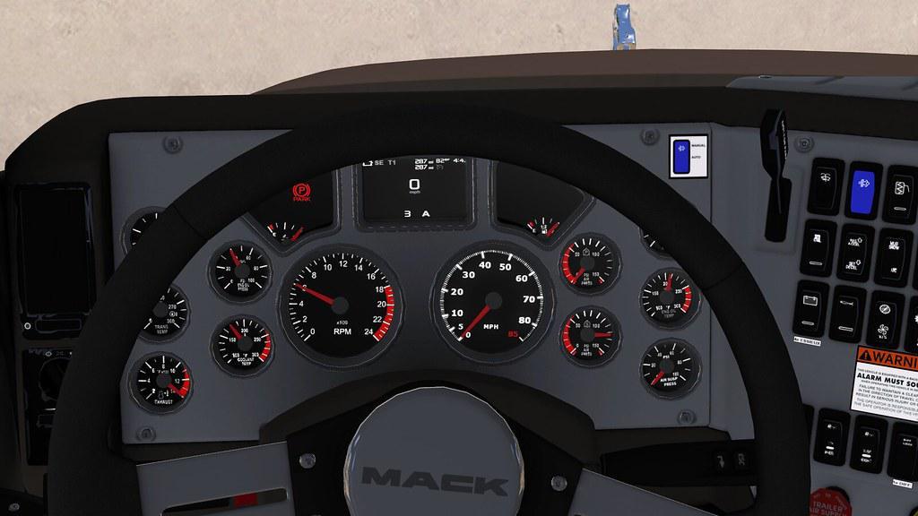 Mack CHU613 Dashboard Tweak 1.34.x