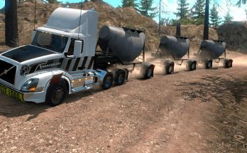 Triple Cement Trailer MP-SP TruckersMP Multiplayer 1.34.x