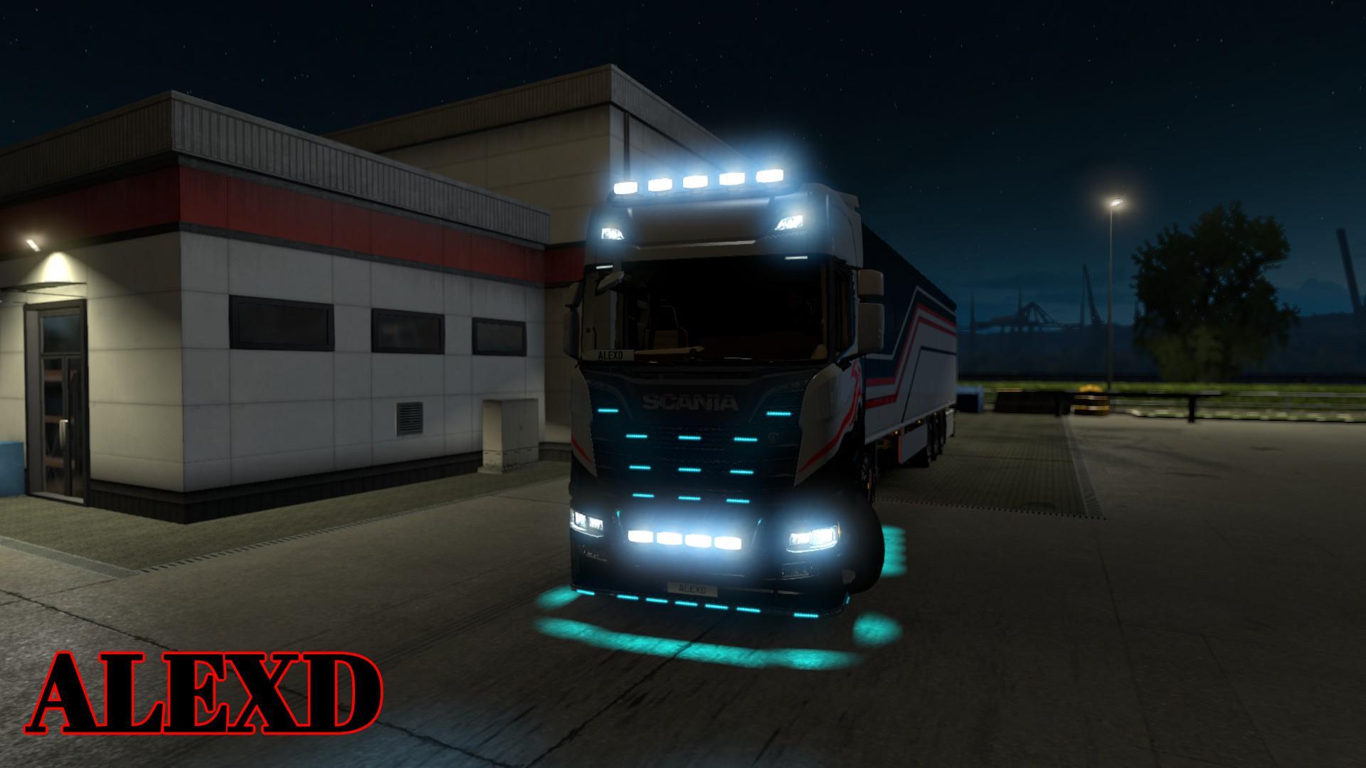 ALEXD FLARE AND 10.000 K LIGHTS FOR ALL TRUCKS v1.0