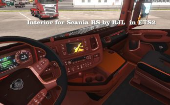 Interior Scania RS by RJL 1.34.x