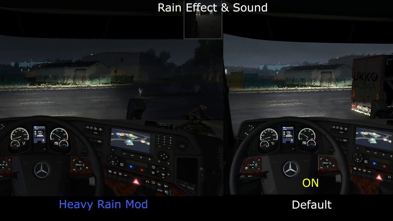 Realistic Rain v 2 6 (Old Heavy Rain) ETS2 1 35 | Allmods net