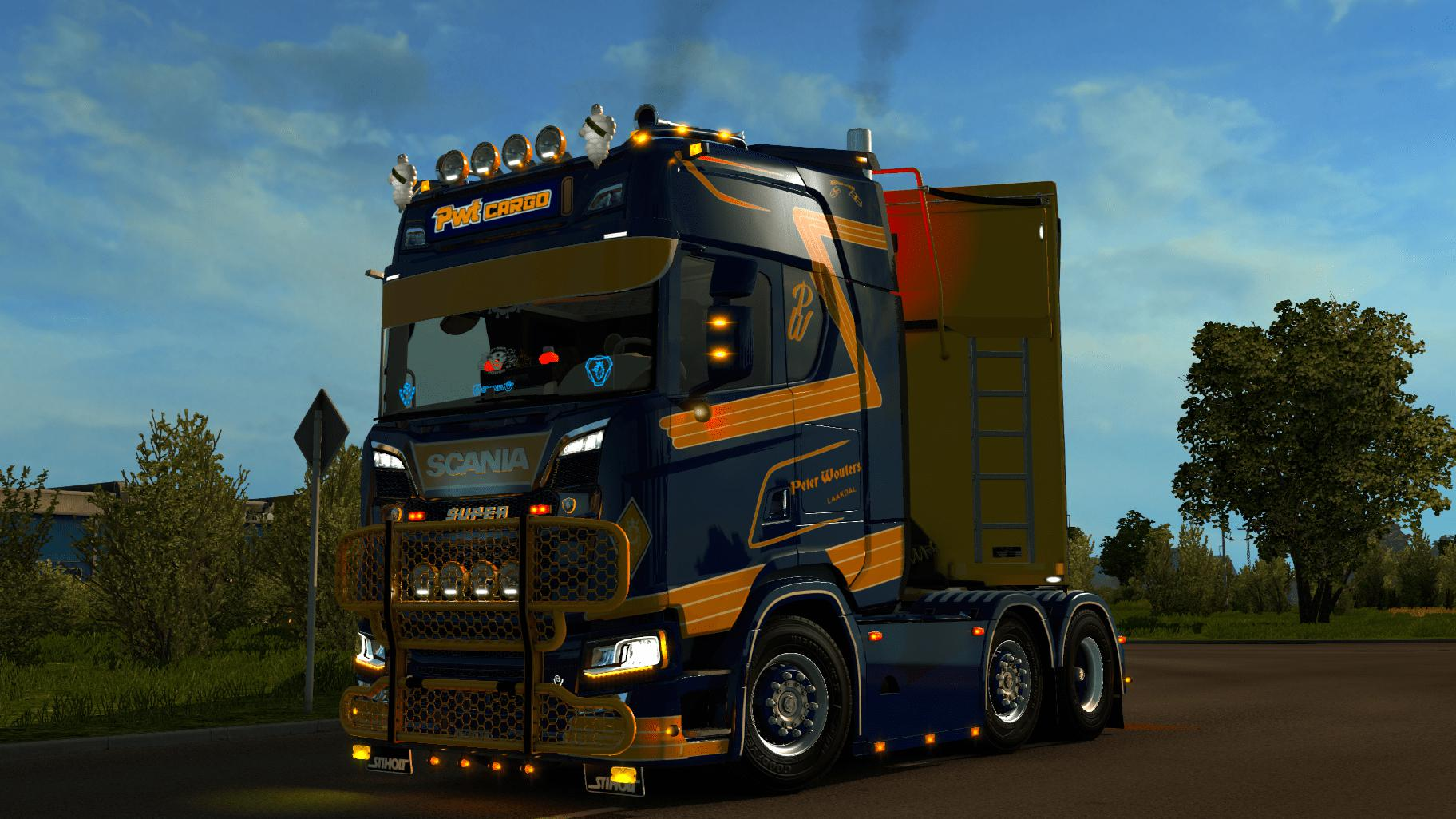 Scania S PWT Cargo + lightbox 1.34.x