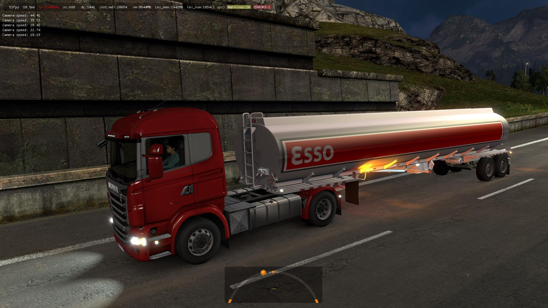 B4RT Heil Tanker Trailer 2axles in traffic ETS2 1.35.x