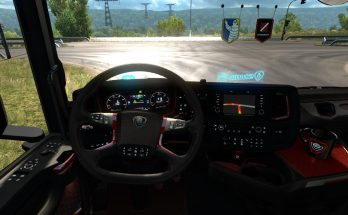 Scania 2016 R & S Red Black Lux Interior 1.35.x