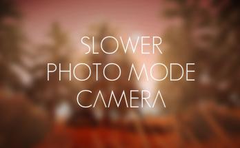 Slow photo mode camera