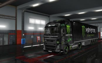 Monster Energy Skin volvo fh v1.0