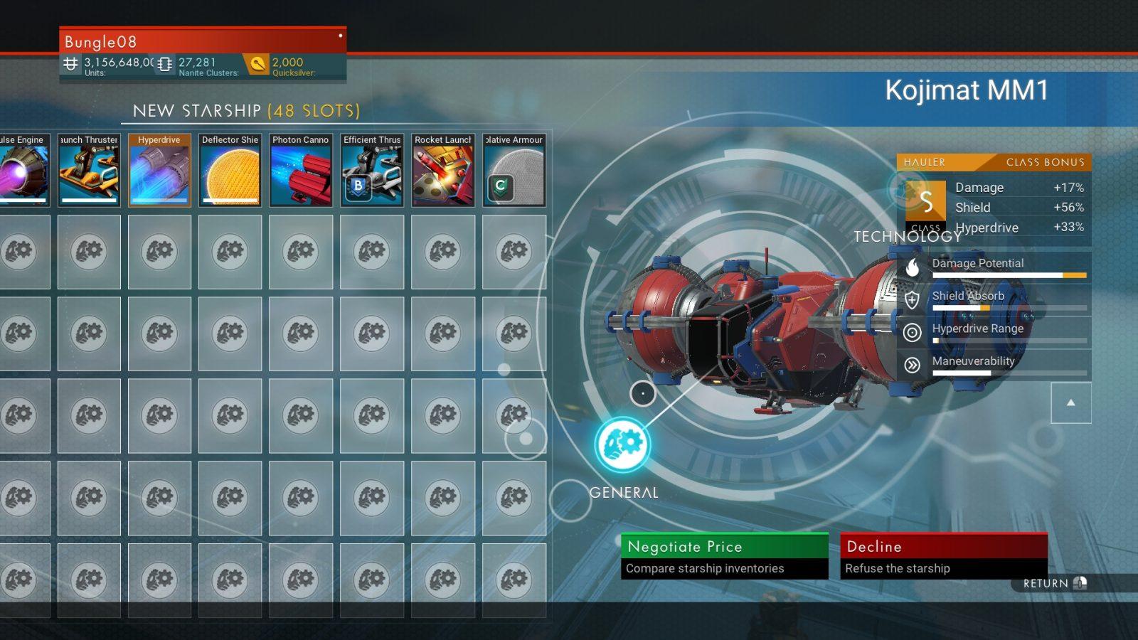 Max Inventory Max Stats Max Class
