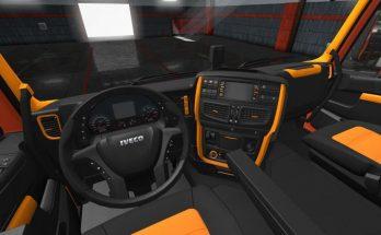 Iveco Hi Way Black Orange Interior 1.35.x