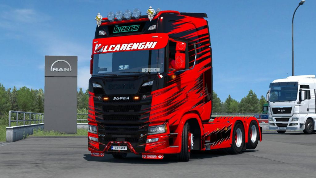 Next Gen Scania Valcarenghi + Combo Trailer Skin Pack 1.35.x