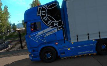 Scania super blue + stickers 1.35