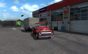 Ford F-100 Custom Cab 1956 + mini-trailer ATS 1.35