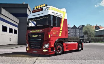 Jan C. Swijnenburg skin for DAF XF Euro6 v1.0