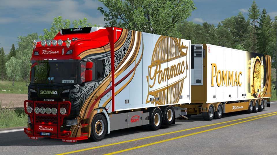 Ristimaa Next Gen Scania S + Tandem Skin v1.0