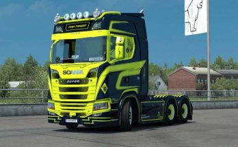 Scania S Cargo Transport + Trailer Skin v1.0