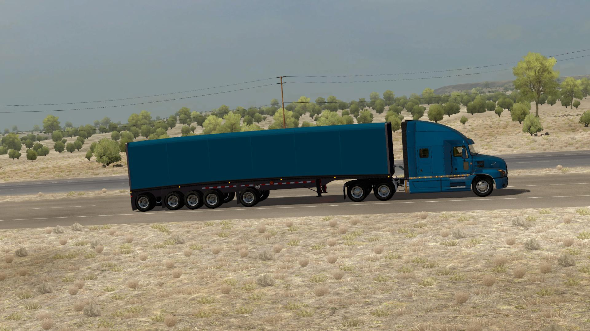 Mac Flatbed 48ft Curtainside 1.35