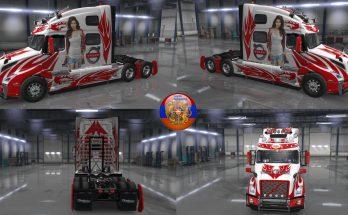 Volvo truck VNL 2018 Skin Pack Metallic Racing v2.0