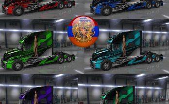 Volvo truck VNL 2018 Skin Pack Metallic Racing v3.0