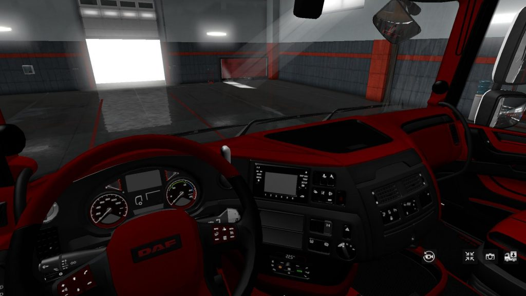 DAF XF 106 RED BLACK EXCLUSIV INTERIOR v1.0