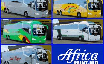 Africa Paintjob - PackSkins - Buses Morocco Irizar i6 - ETS2 1.36