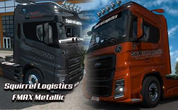 FMAX Squirrel Logistics skin v1.0