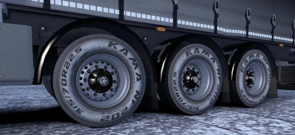 Kama tires for truck and owned trailer v1.0