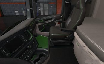 Scania 2016 S & R Black - Green Interior 1.36.x