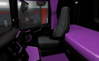 Black and Purple Interior for Scania S & R 2016 1.36.x