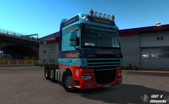 DAF XF105 Tennant Transport skin v1.0